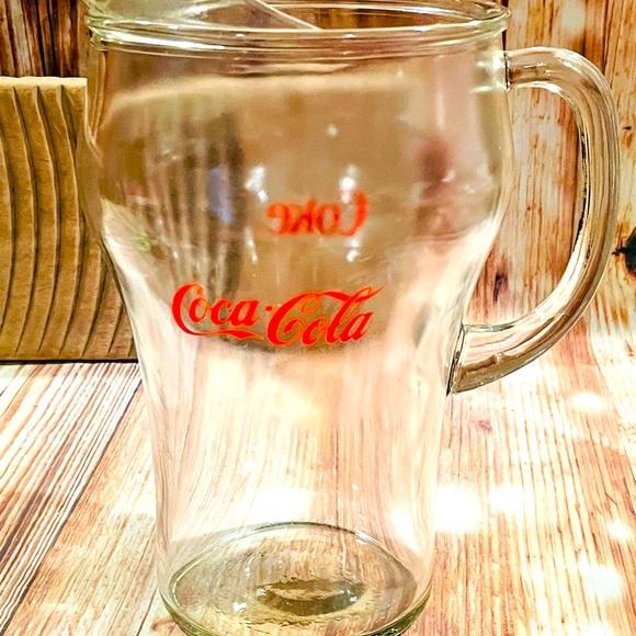 Vintage Coca Cola Glass Pitcher❤️